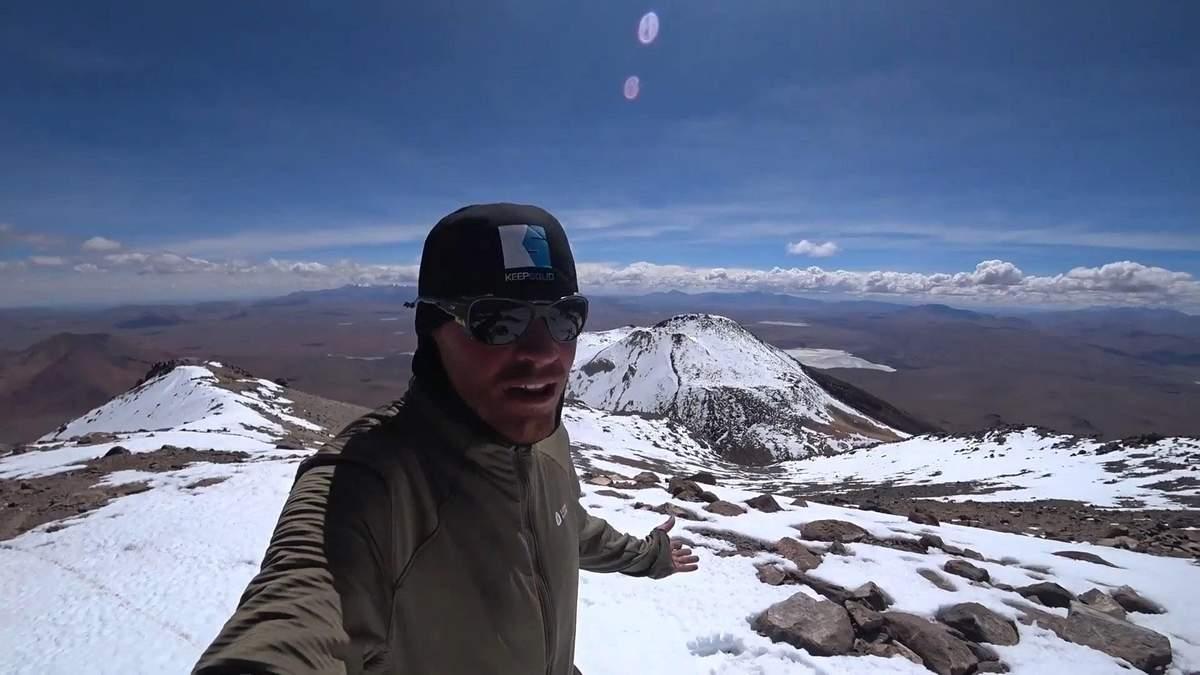 Українець підкорив вулкан Утурунку на велосипеді: відео