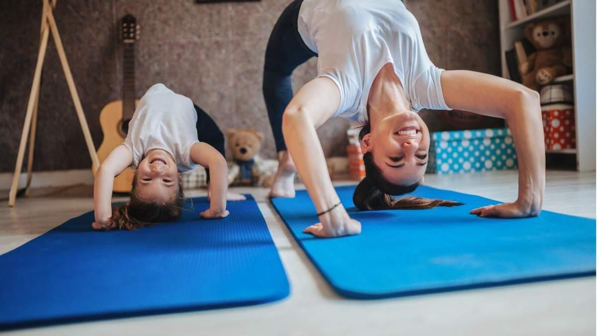Как тренироваться с ребенком дома: чемпионка показала тренировку