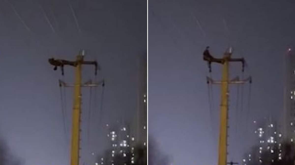 Чоловік знеструмив усе місто після тренування на електричному стовпі: епічне відео