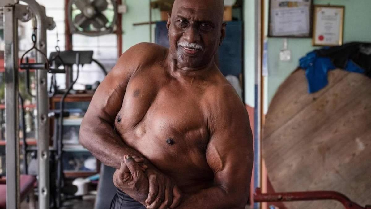 72-летний бодибилдер