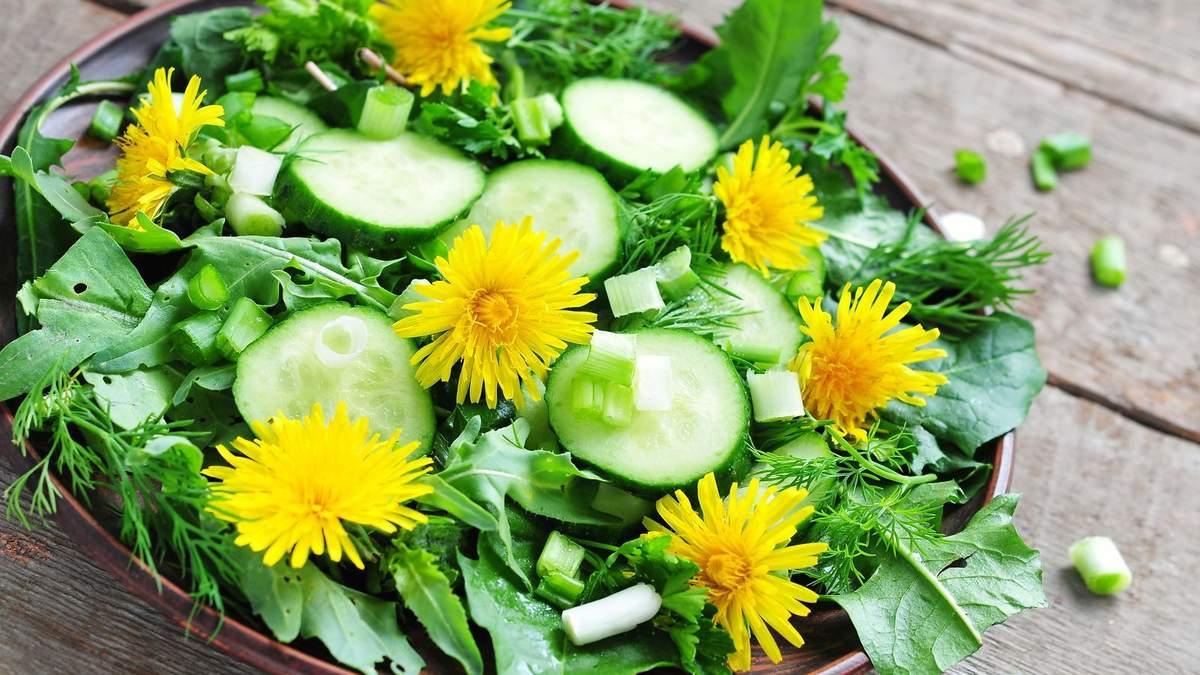 Салат из одуванчиков: как его приготовить - простой пошаговый рецепт