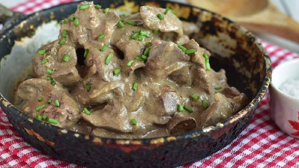 Как приготовить куриную печень с грибами: диетический рецепт